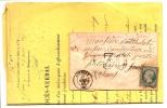N°14A SUR LETTRE AVEC PROCÉS VERBAL POUR TIMBRE AYANT DÉJÀ SERVI SENS 1855 - Postmark Collection (Covers)