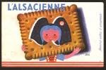 Buvard - Biscuits L´ Alsacienne D´apres Herve MORVAN - Buvards, Protège-cahiers Illustrés
