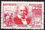 France 1955 Inventeurs Celebre 30 Fr. Carmin / Vermillion Chardonnet  Yvert 1017 - Frankrijk