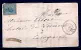 Nr 18 Op Brief PD Van HUY Naar COLOGNE (COELN-KEULEN) - 1865-1866 Profiel Links