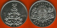 """Latvia 1 Lats 2009 Km#106 """"Fir Tree"""" UNC - Lettland"""