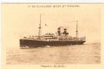 """THEME  BATEAUX        PAQUEBOTS   """"EL-BIAR""""   Cie De Navigation    MIXTE    (Cie TOUACHE) - Dampfer"""