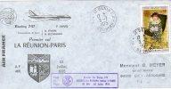 Ile Maurice LA REUNION Nairobi PARIS  Air France 1° Vol Par Boeing 747  3/07/75 - Aviones