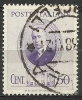 1938 Italia Regno Celebrativo Di Guglielmo Marconi 50 Cent. Usato - Usados