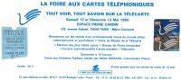 TICKET D'ENTREE  La Foire Aux Cartes Telephoniques  ESPACE PIERRE CARDIN  Paris 12 &13 MAI 1990 - Kataloge & CDs