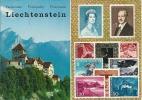 SchlossVADUZ Mit Falknis.  -  Briefmarken Von Liechtenstein. - Liechtenstein