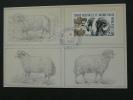 Polar Kerguelen Sheep Maximum Card FSAT 41975 - Polar Philately
