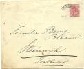NETHERLANDS 1917 5c ENVELOPE, H & G B20, USED AMERSFOORT TO STEENWIJK, WITH AMERSFOORT CDS; STEENWIJK BACKSTAMP. - Postwaardestukken