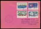 ANTARCTIC Station Komsomolskaya Base Pole Mail Used Cover USSR RUSSIA Set 4 Stamp Whaling Penguin Ship Aviation - Unclassified