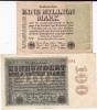 WEIMAR - 2 BILLETS D´INFLATION De 1923 IMPRIMES Sur Une Seule FACE - PLIES - [ 3] 1918-1933 : République De Weimar