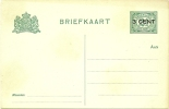 NETHERLANDS 1916 3c On 2 1/2c POSTCARD TYPE A, H & G 58, UNUSED. - Postwaardestukken