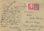 FRANCE 1935 40c POSTCARD, H & G 100, UPRATED WITH 50c & USED PARIS TO BERLIN, WITH PARIS RUE SINGER MACHINE CANCEL. - Postwaardestukken