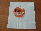 """Serviette Papier """"Pizza SPRINT"""" 14,5x14,5cm Pliée - Reclameservetten"""