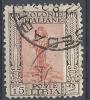 1926-30 LIBIA USATO SERIE PITTORICA 15 CENT D.11 SENZA FILIGRANA - RR9425 - Libya