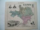 CARTE GEOGRAPHIQUE ATLAS MIGEON..Département GARD (30)..illustrée..FLORIAN, GUIZOT, ASSAS, ALAIS - Cartes Géographiques
