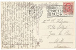 """Cartolina S. Pietro TRAM Con """"FUMATORI DI TOSCANI PROVATE IL SIGARETTO ROMA"""" Tobacco Tabagisme - 1900-44 Victor Emmanuel III."""