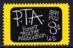 1972 USA Parent Teacher Association 75th Anni Stamp #1463 Blackboard Kid Education - Jobs