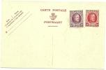 BELGIUM 1924 45c POSTCARD, H & G 82, WITH ADDITIOANAL 15c ADHESIVE, UNUSED. - Postwaardestukken