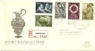 NETHERLANDS 1962 RELIEF FUND SET OF FIVE ON ILLUSTRATED FIRST DAY COVER USED REGISTERED TO AMERSFOORT, WITH SPECIAL HAND - FDC