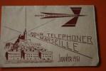 JANVIER 1961 POUR TELEPHONER DE MARSEILLE DOCUMENT DE LA POSTE AVANT SEPARATION AVEC TELECOM  REPERTOIRE AUTOMATIQUE URB - Documents Of Postal Services