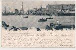 Cpa Bon Etat , Genova , Veduta Del Port , Voiliers Au Loin , Timbre Et Oblitérations Adresse , Voir Le Verso - Genova (Genoa)