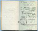 1937 BLOCCO INTERO DI 10 MATRICI BUONI FRUTTIFERI L.100 UFFICIO POSTALE S. CATERINA ALBANESE (COSENZA) (DC3292) - Storia Postale