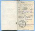 1937 BLOCCO INTERO DI 5 MATRICI BUONI FRUTTIFERI L.5000 UFFICIO POSTALE S. AGATA D' ESARO (COSENZA) (DC3293) - Storia Postale
