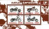 Rwanda 2010  Harley Davidson : -VRSCA-V-ROD, XL 883, XL 1200l, FXDF Preobliterato - Motorbikes