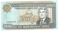Turkmenistan 10000 Manats ( Year 1999 ) - Turkmenistán