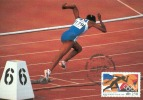 D04803 CARTE MAXIMUM CARD MC CM TRIPLE 1992 FRANCE RUNNING CP ORIGINAL - Athletics