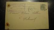 11ZE - entier postal lion couch� papeterie de Dieghem 1894
