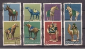 CHINA P.R. - 1961 - Tan Dynasty Pottery - Full Set Of 8 Stamps Used With Gum (hinged) - Used Stamps