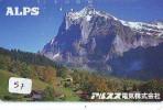 Télécarte Japon * SUISSE Montagne * Mountain (57) Japan Phonecard Switzerland Schweiz * ALPS - Bergen
