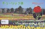 TELEFOONKAART JAPAN * MOLEN* Télécarte Japon * MOULIN (441) WINDMILL * Phonecard * Mühle * TULIP * BOLLENVELDEN * TULP - Landschappen