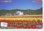 Carte Prépayée Japon * MOULIN (454) WINDMILL * PREPAID CARD * Mühle * KARTE JAPAN * MOLEN * TULP * TULIPS * BOLLENVELDEN - Landschappen