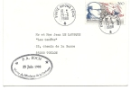 15Ve     ENVELOPPE PORTE AVIONS FOCH TAMPON CACHET VISITE MINISTRE DE LA DEFENSE 1988 - Non Classés