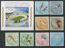 ALBANIE 1968 - Jeux Olympiques Mexico (Stade Disque Hippisme ...) Serie Et Bloc Neuf Sans Charniere (Yvert 1125/32 BF 9) - Albania