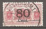 Nederlandsche Spoorwegen Amsterdam 1 Rood 80 Cent 1933 - Schienenverkehr