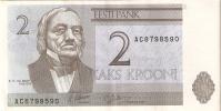 BILLETE DE ESTONIA DE 2 KROONI SERIE AC DEL  AÑO 1992 (BANKNOTE) - Estonia