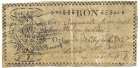 BON POUR 50 SOL .ORLEANS 1827 . PARCHEMIN - Bonos