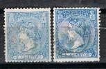 Sellos 4 Cuartos 1866, Variedad Color, Num 81 Y 81a º - Usati