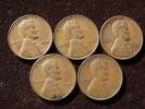 Estados Unidos United States 5x One Cent 1946-49-50-56-56  Good Condition. See Images. - EDICIONES FEDERALES