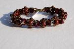Bracelet Perles Cristal Swarovski Et Pierres Semi-précieuses Jaspe - Bracelets