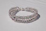Bracelet Perles Cristal Swarovski, Perles Cristal De Bohême - Pulseras