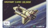 Télécarte Japon ESPACE (182) Phonecard JAPAN * SPACE SHUTTLE * Rakete * Rocket * LAUNCHING * SPACE * CHALLENGER * USA - Space