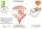 5ème Challenge Pilâtre De Rozier - 28-08-87 à Metz - Carte Transportée Et Parachutée - Fesselballons