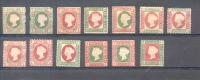 FALSOS HELIGOLAND 13 STAMPS SOLD AS IS FALKST FALSCH - Heligoland (1867-1890)