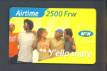 RWANDA  -  Remote Phonecard As Scan