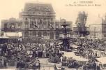 CPA - Cherbourg - La Place Du Château Un Jour De Marché - Cherbourg