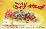 Télécarte Japon *  Publicité Pétrole Essence MOBIL (248) Phonecard Japan Petrol Station * Telefonkarte * - Petrole